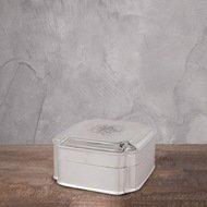 Eichholtz Емкость с крышкой, 13x13x7 см, серебряная