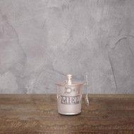 Roomers Банка для чая с ложкой, 8х12 см, серебряная