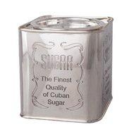 Roomers Емкость для сахара, 10х10х12 см, серебряная