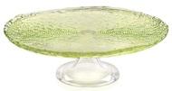 IVV Блюдо для торта на ножке Multicolor, 32 см, зеленое