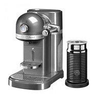 KitchenAid Кофемашина капсульная Artisan Nespresso и Aeroccino с баком (1.4 л), серебряный медальон