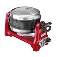 KitchenAid Вафельница круглая, 19 см, 4 сегмента, красная