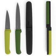 Joseph&Joseph Набор ножей компактный Twin Slice, 2.5х24х2 см, зеленый, 3 пр.