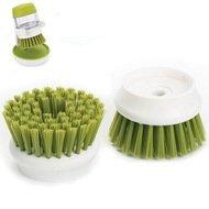 Joseph&Joseph Насадки сменные для щетки с дозатором Palm Scrub, 6х4 см, 2 шт., зеленые