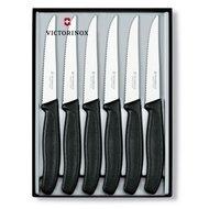Victorinox Набор ножей для стейков Victorinox, 6 пр., черный, в подарочной коробке