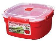 Sistema Контейнер Microwave (2.4 л), 20.9х21.1х10.7 см, квадратный, красный