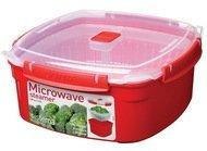 Sistema Контейнер Microwave (3.2 л) 23.8х23.8х10.7см, квадратный, красный