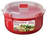 Sistema Контейнер круглый Microwave (915 мл), 15.6х9.3 см, красный