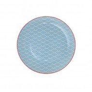 Tokyo Design Тарелка Tokyo Design Star/Wave, голубой, 20.6x2.2 см