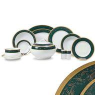 Yamasen Сервиз обеденный Color Line на 12 персон, 55 пр., зеленый