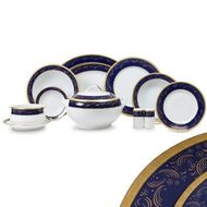 Yamasen Сервиз обеденный Color Line на 12 персон, 55 пр., синий