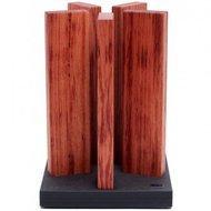 Kai Блок для ножей Stonehenge, 5 деревянных колон, 21х21х30 см(STH-1)