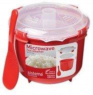 Sistema Рисоварка Microwave (2.6 л), 21.6х19.5х16.1 см, красная