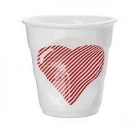 Revol Мятый стакан для капучино (180 мл), белый, масть червей (RGO0118-1-2247)