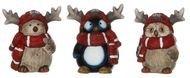 Triumph Nord Сова, Птица, Пингвин декоративные, 8х7х9 см, 3 вида, 6шт.