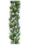 Triumph Tree Гирлянда Императрица с шишками, 180х33 см, заснеженная