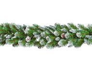 Triumph Tree Гирлянда Императрица с шишками, 270х33 см, заснеженная