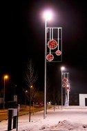 Globall Concept Светодиодный орнамент Монпелье, белый и красный, 75х170 см