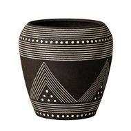 Deroma Кашпо Mali Rosenpot Black, черное, 24x23 см