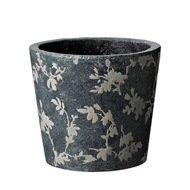 Deroma Кашпо Tea Vaso Grey, серое, 18x15.5 см