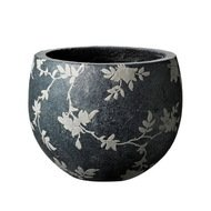 Deroma Кашпо Tea Ciotola Grey, темно-серое, 18x15.5 см