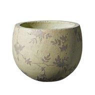 Deroma Кашпо Tea Ciotola Beige, бежевое, 14x12.5 см