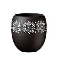 Deroma Кашпо Gipsy Vaso Black, черное, 14.5x16 см