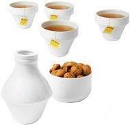 Doiy Сервиз для чаепития WithMilk на 4 персоны, 6 пр., белый
