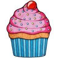 BigMouth Покрывало пляжное Cupcake