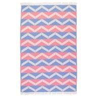 Barine Полотенце пляжное Ups and Downs Pestemal, 90х160 см, сине-розовое