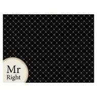 Contento Сервировочная салфетка Mr Right, 40х30 см, черная