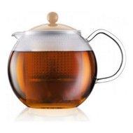 Bodum Чайник заварочный Assam (1 л), кремовый