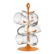 Bodum Набор Copenhagen 6 кружек на подставке, оранжевый
