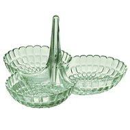 Guzzini Менажница Tiffany, 25х23.5х15.5 см, зеленая