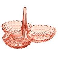 Guzzini Менажница Tiffany, 25х23.5х15.5 см, коралловая