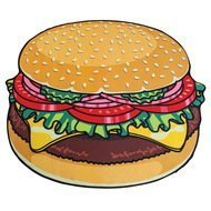 BigMouth Покрывало пляжное Burger, 130х152х2 см