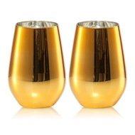 Schott Zwiesel Набор стаканов для воды 397 мл, h 11,4 см, d 8,1 см, цвет золотой, 2 шт., Vina Shine