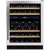 Dunavox Винный шкаф (130 л), на 53 бутылки, мультитемпературный, серый