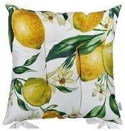 "Apolena Подушка на стул ""Лимоны"", 43х43 см, желтая"