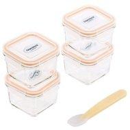 Glasslock Детский набор контейнеров (0.21 л), 5 пр., с силиконовой ложкой