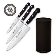 Arcos Набор ножей Clasica, 3 шт., с черной подставкой