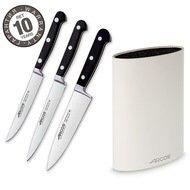 Arcos Набор ножей Clasica, 3 шт., с белой подставкой