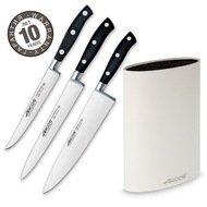Arcos Набор ножей Riviera, 3 шт., с белой подставкой
