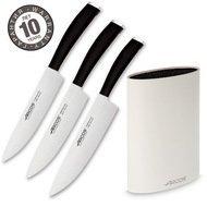 Arcos Набор ножей Tango, 3 шт., с белой подставкой