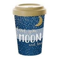 Paperproducts Design Кружка Moon Love, 9х13.5 см, бамбук/силикон