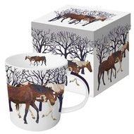 Paperproducts Design Кружка Winter Horses, 9.8х10 см, в подарочной коробке