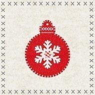 Paperproducts Design Салфетки Felt Ornament бумажные, 16.5х16.5 см, 20 шт.