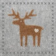 Paperproducts Design Салфетки Felt Reindeer бумажные, 16.5х16.5 см, 20 шт.