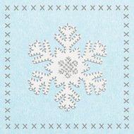 Paperproducts Design Салфетки Felt Snowflake бумажные, 16.5х16.5 см, 20 шт.
