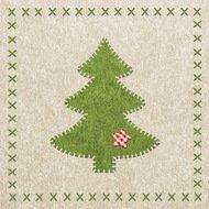 Paperproducts Design Салфетки Felt Xmas Tree бумажные, 16.5х16.5 см, 20 шт.